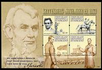 Union Island Gren Vincent 2011 MNH Abraham Lincoln Gettysburg 4v M/S Stamps