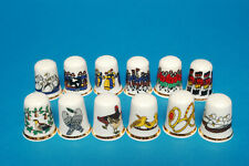 """12 days of Christmas"" Set of 12 China Thimbles B/72"
