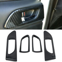 Black Interior Door Handle Bowl Cover 4PCS For Subaru Impreza WRX 2015-2019