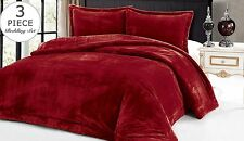 Down Alternative Supreme Plush 3 Piece Comforter Blanket Full / Queen Set