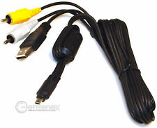 USB Audio-Video Cable for Nikon EG-CP14 UC-E6 Fuji Finepix S5700 Z10FD F30 Z33WP