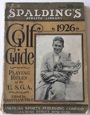 1926 Spalding's Golf Guide Bobby Jones  Cover