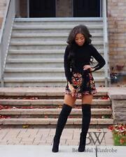 Zara Black Embroidered Shorts Size MEDIUM BNWT