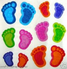 Sandylion Glittery FOOT STEPS in COLOR Scrapbooking Stickers  H73