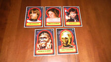 2015 Topps Star Wars 5x7 1977 Reprint Sticker Complete Red Ed. Set 3/10 MINT