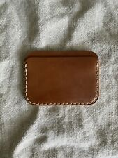 Makr Card Case in Natural Horween Shell Cordovan