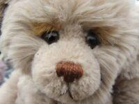 """VINTAGE TEDDY BEAR ARTIST JOAN WOESSNER 14"""" ADORABLE FACE VERY SOFT GERMAN FUR"""