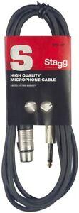 Stagg 6 m Câble Microphone XLR - Phono de Haute Qualité - Noir Jack Musique