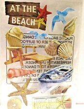 Lot of 2  At the Beach 3D Scrapbook Crafts Teachers Stickers 2 Packs of 12