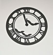 Large Halloween 'Midninght' Clock Die Cut Silhouette, Spooky Wall Decoration
