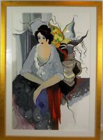 Vintage Original Serigraph Thoughts of Love by Itzchak Tarkay Listed