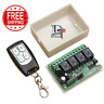 12V 4CH Channel 433Mhz Wireless Remote Control Switch Transceiver Receiver