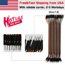 40pcs 20cm Male To Female Dupont Wire Jumper Cable For Arduino Breadboard New