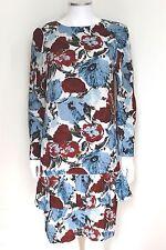 Dries van Noten Floral Frill Shift Dress F40 uk 12