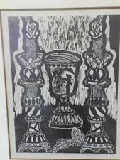 "ANTIQUE JUDAICA, BEAUTIFUL WOODCUT LITHOGRAPH ""HAGGADAH"" RAKHEL BILLER-KLEIN"