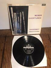 Decca SXL 2112 Webers Overtures Ansermet UK WBg ED1 BB Blue Back near MINT