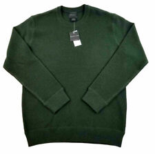 MAGASCHONI Mens 100% Wool Sweater Dark Green Large - XL MSRP $138 New With Tags