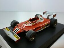 TENARIV FERRARI 312 T2 - GP MONACO '77 LAUDA #11 - F1 RED 1:43 VERY GOOD on BASE