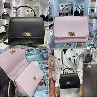 NWT Michael Kors MOTT Medium Top Handle Leather Satchel Crossbody Bag Multi