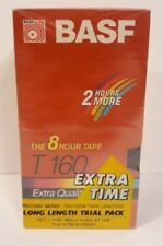 BASF T-130 & T-160 6/8 Hour Extra Quality VHS Blank Tapes (3 Total) New & Sealed