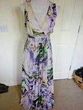 ATMOSPHERE MULTICOLOURED PATTERNED MAXI LENGTH DRESS UK 12  EXCELLENT  COND