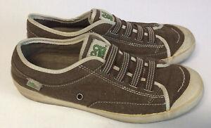 Simple Eco Sneaks Retro Sneakers Shoes Women's Beige Size 9.5 Slip On