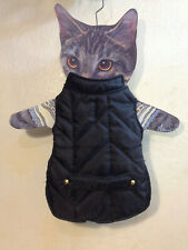Pet Dog Vest Jacket Warm Clothes Winter Padded Puppy Coat Black Small NEW