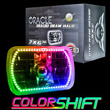 """ORACLE 7""""x6"""" Sealed Beam Single Headlight +ORACLE Pre-Installed ColorSHIFT Halo"""