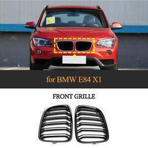 Kühlergrill für BMW X1 E84 2011-15 Doppelsteg ABS Nieren Grill Hochglanz Schwarz
