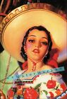 Mujer Hermosa 1940 Mexican Calendar Art Vintage Poster Print Retro Pin Up Style