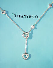 Tiffany & Co Heart Link Lariat Sterling Silver 925 Necklace 18.5 Inch