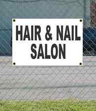 2x3 HAIR & NAIL SALON Black & White Banner Sign NEW Discount Size Price