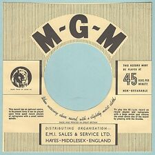 M.G.M REPRODUCTION RECORD COMPANY SLEEVES - (pack of 10)