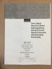 Rotel RCD-1070 CD Player Owners Manual *Original*
