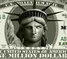 Pack of 20 Realistic MILLION DOLLAR bills ORIGINAL Statue of Liberty bill lot