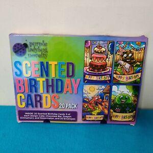 Purple Ladybug Novelty Scented Birthday Cards 20 Pack New (Sealed)