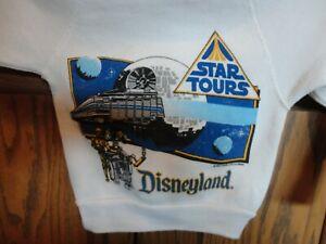 Vtg 80's Disney Character Fashions DisneyLand Star Wars Tours Sweatshirt Kid 2-4