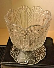 Vintage Avon 1970`s Fostoria Clear Glass Candle Holder