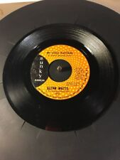 Glenn Watts My Little Plaything & Money Gives Dignity Promotional 45 Record Nice