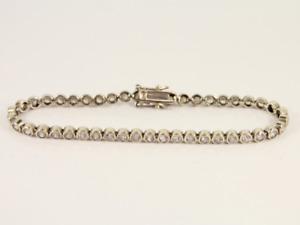 Tennis Bracelet Sterling Silver Ladies Stunning 925 11.6g Jx86