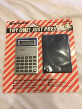 Vintage Sanyo Card Calculator CX 200 Battery And Wallet Included New Old Stock.
