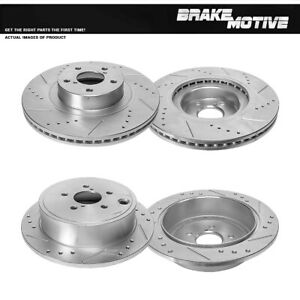 For Subaru Forester Impreza WRX Front + Rear Drilled Slotted Brake Rotors Kit