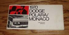 Original 1970 Dodge Polara / Monaco Owners Operators Manual 70