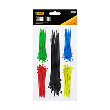 Nylon Cable Ties Plastic Zip Wire 250 Pack Assorted Colors & Different Lengths