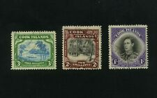 COOK ISLANDS 1938 Set of 3  SG 127-129  FU Fine used
