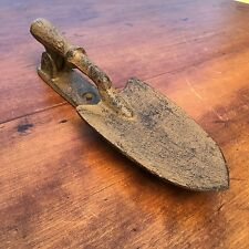 Vintage Weathered Painted Iron Garden Shovel / Spade Door Knocker