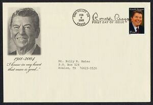 #3897 37c Ronald Reagan, Unknown FDC [Size A8] ANY 5=