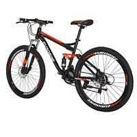 2021NEW Mountain Bike Full_suspension Dual Disc 27.5Inch 21speeds Bicycle Orange