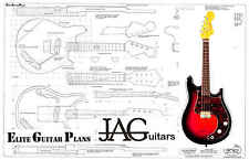 Luthiers Project Plan/Drawing for Fender style Electric Mandolin Ideal Gift P071