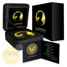 2016 American Eagle Black Ruthenium Shadows and 24k Gold BOX & COA NEW coin